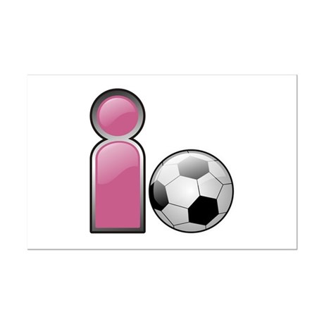 I play Soccer - Pink Mini Poster Print