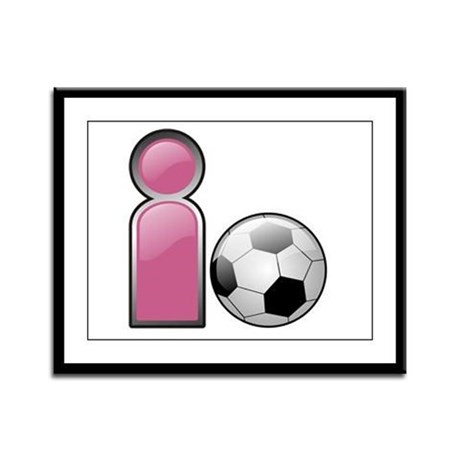 I play Soccer - Pink Framed Panel Print