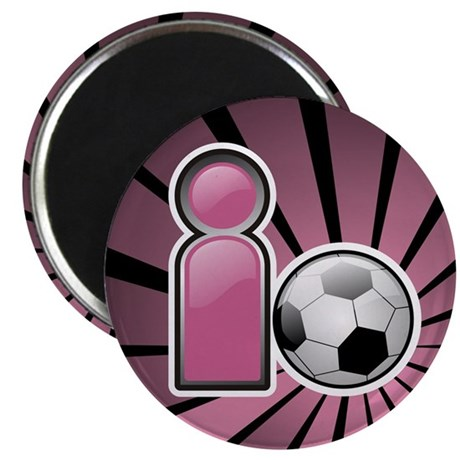 "I play Soccer - Pink 2.25"" Magnet (100 pack)"