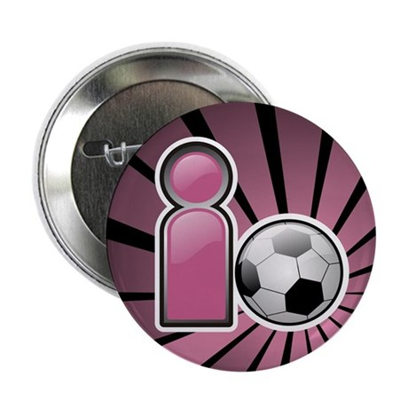 "I play Soccer - Pink 2.25"" Button (100 pack)"