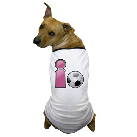 I play Soccer - Pink Dog T-Shirt