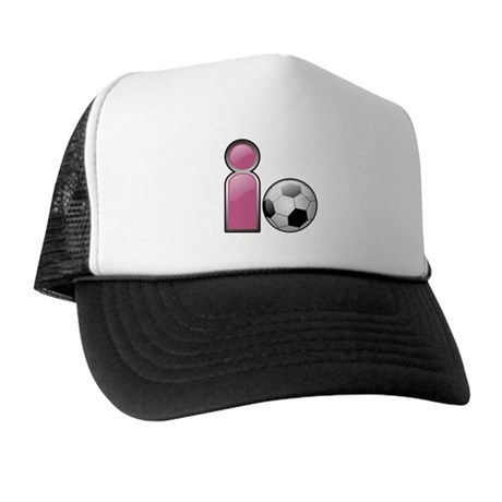 I play Soccer - Pink Trucker Hat