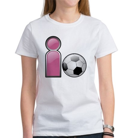 I play Soccer - Pink Women's T-Shirt