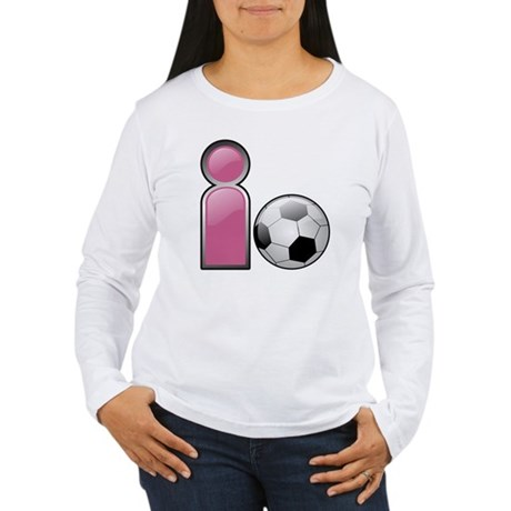 I play Soccer - Pink Women's Long Sleeve T-Shirt