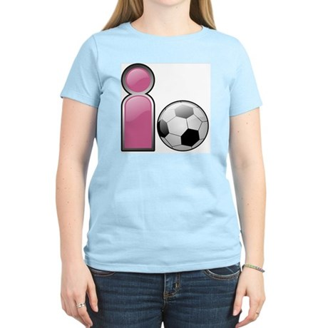 I play Soccer - Pink Women's Pink T-Shirt