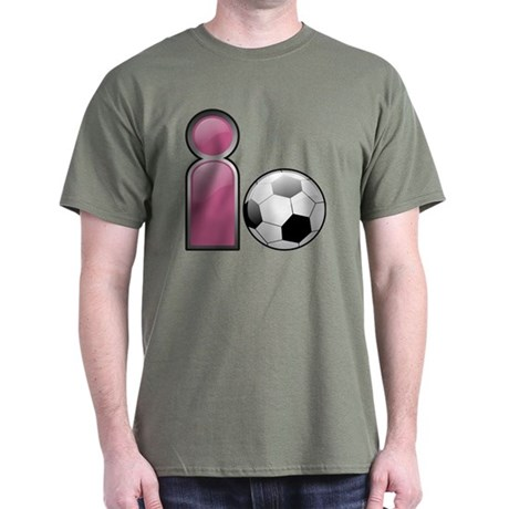 I play Soccer - Pink Dark T-Shirt