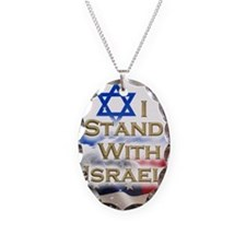 I stand with Israel 001 Necklace