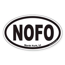 North Fork Long Island NOFO Euro Oval Decal