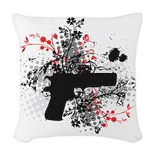 black 1911p Woven Throw Pillow