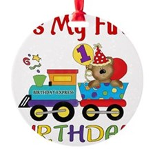 first birthday train Ornament