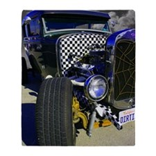 Ratrodblue Throw Blanket
