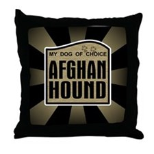 Afghan Hound Dog Choice Owner Throw Pillow
