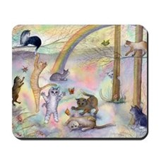 Cats waiting at Rainbow Bridge Mousepad
