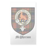 McPherson Clan Crest Tartan Rectangle Decal