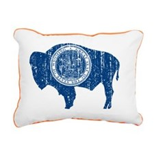 Wyoming_blu Rectangular Canvas Pillow