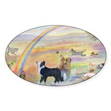 waiting at the rainbow bridge - dog Decal