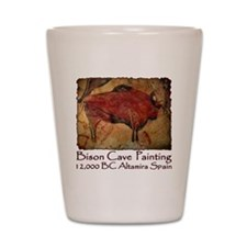 cave bison spain Shot Glass
