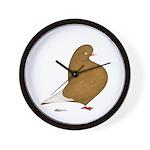 Yellow Domestic Flight Wall Clock