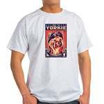 Obey the Yorkie! Pilot Ash Grey T-Shirt