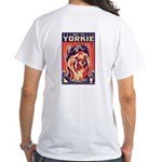 Obey the YORKIE! Retro Pilot White T-Shirt