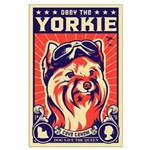 Obey the YORKIE! UK Pilot Large Poster