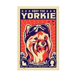 Obey the YORKIE! Pilot Mini Poster Print