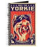 Obey the YORKIE! Retro Pilot Journal