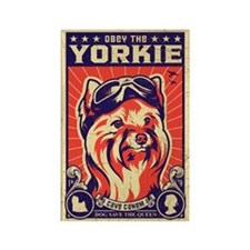 Obey the YORKIE! Retro Pilot Magnet