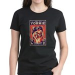 Obey the Yorkie! Pilot Women's Dark T-Shirt