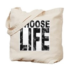 Choose Life Distressed Tote Bag