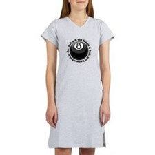 magic-8-ball-black-tshirt-front Women's Nightshirt
