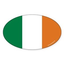 Irish Flag Euro Oval Decal