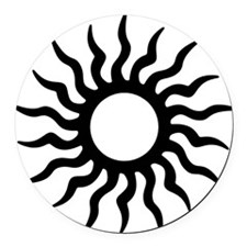 Tribal Sun Icon Round Car Magnet