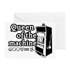 queenSlotA Greeting Card
