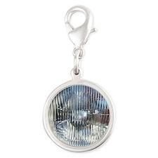SoapBoxHeadlight Silver Round Charm