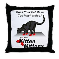 KittenMittons Throw Pillow