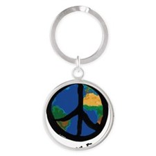 peace_on_earth Round Keychain