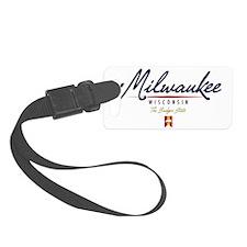 Milwaukee Script W Small Luggage Tag
