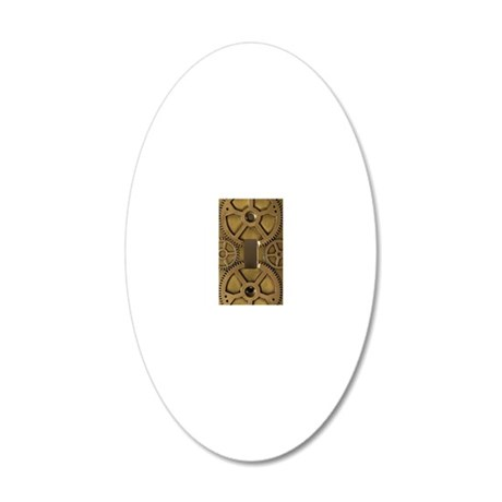 steampunk iphone 20x12 Oval Wall Decal