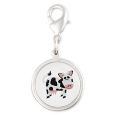Black And White Cow Charms