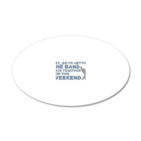 BAND TOGETHER3 20x12 Oval Wall Decal