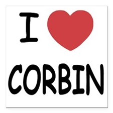 "CORBIN Square Car Magnet 3"" x 3"""