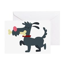 Doggie  His Bone Greeting Card