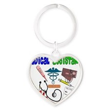 Medical Assisistant BLUE GREEN Heart Keychain