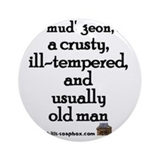 Curmudgeon Round Ornament
