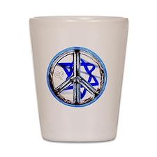 peace_heart_jewish_star Shot Glass