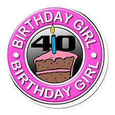 Birthday_Girl-40 Round Car Magnet