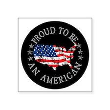 """American_Button Square Sticker 3"""" x 3"""""""