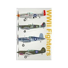 WWIIFighters_Dk_Front Rectangle Magnet