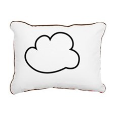 Cloud white text Rectangular Canvas Pillow